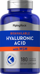 Hyaluronic Acid with MSM, 180 Quick Release Capsules