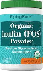FOS prebiotico inulina in polvere (Biologico) 15 oz (425 g) Bottiglia