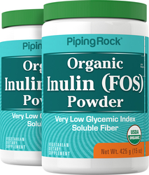 Inulin Prebiotic FOS Powder 2 Bottles x 15 oz (425 grams)