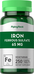 Sulfato ferroso de hierro  250 Tabletas recubiertas