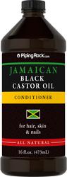 ジャマイカ産ブラック キャスター オイル (ひまし油) 16 fl oz (473 mL) ボトル