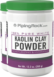 Kaolin (White) Clay 2 Bottles x 14 oz (350 Grams) Bottle