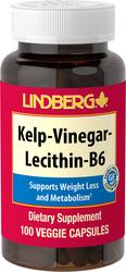 Varech - Vinaigre - Lécithine - B6 100 Gélules végétales