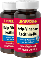 Kelp - Vinegar - Lecithin - B6, 100 Caps x 2 Bottles
