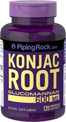 Konjac Root Fiber Glucomannan 600 mg 120 Capsules
