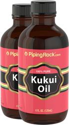 Pure Kukui Oil for Skin 2 Bottles x 4 fl oz (118 mL)