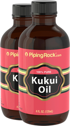 Pure Kukui Oil for Skin 2 Bottles x 4 fl oz (118 mL)
