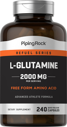 L-Glutamin, 2000mg (pro Portion) 240 Kapseln mit schneller Freisetzung