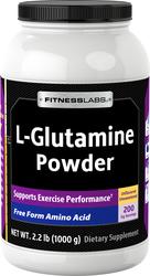 Pó de L-glutamina 2.2 lbs (1000 g) Frasco