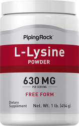 L-lisina en polvo 1 lb (454 g) Botella/Frasco