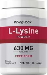 左旋赖氨酸粉   1 lb (454 g) 瓶子