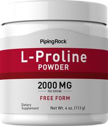 Pó de L-prolina 4 oz (113 g) Frasco