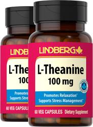 L-Theanine 100 mg, 60 Caps x 2 bottles