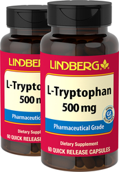 L-Tryptophan 500 mg 60 Caps x 2 bottles