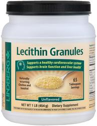Granulés de lécithine sans OGM 1 lb (454 g) Bouteille