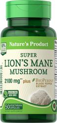 Lion's Mane Mushroom 2100 mg, 50 Capsules