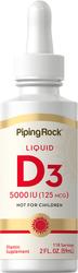 Liquide vitaminé D3 2 fl oz (59 mL) Compte-gouttes en verre