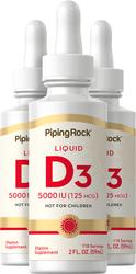 Vitamina líquida D3  2 fl oz (59 mL) Frasco conta-gotas