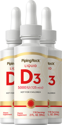 Vitamin D3 2000 IU 3 Bottles x 2 fl oz Liquid