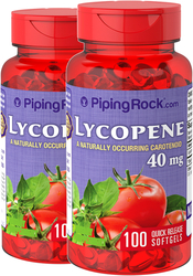 Lycopene 40 mg  2 Bottles x 100 Softgels