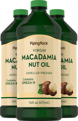 Macadamia Nut Oil 16 fl oz (473 mL) x 3 Bottles