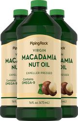 Aceite de nuez de macadamia 16 fl oz (473 mL) Botellas/Frascos
