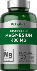 Magnésium 120 Capsules molles à libération rapide