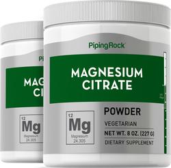 Poudre de citrate de Magnésium 8 oz (227 g) Bouteilles