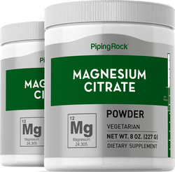 Magnesium Citrate Powder, 8 oz x 2 Bottles