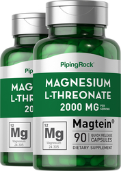 Magtein Magnesium L-Threonate 2 Bottles x 90 Capsules Supplement for Muscles
