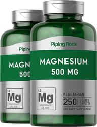 Magnesium Oxide 500 mg 2 x 250 Supplement Capsules