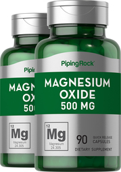 Magnesium Oxide 500 mg 2 Bottles x 90 Capsules
