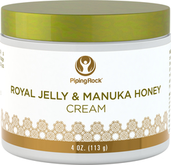 Royal jelly & manuka honingcrème 4 oz (113 g) Pot