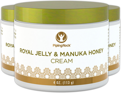 Manuka Honey Skin Cream with Royal Jelly 3 Jars x 4 oz (113 g)