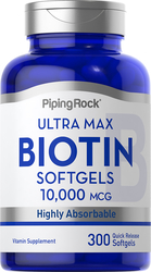 Max Biotin , 10,000 mcg, 300 Quick Release Softgels