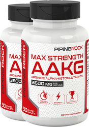Max Strength AAKG Arginine Alpha-Ketoglutarate (Nitric Oxide Enhancer), 2 x 90 Caplets