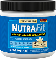 Meal Replacement Shake NutraFit (Creamy Vanilla) (Trial Size), 5 oz