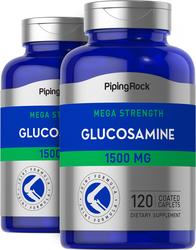 Mega Glucosamine 1500 mg 2 Bottles x 120 Coated Caplets