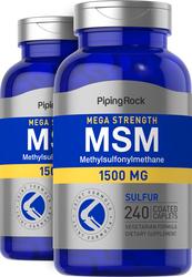 Mega MSM + Sulfur 1500 mg, 1500 mg, 240 Coated Caplets