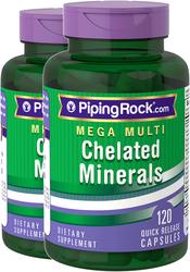 Méga Multivitamines et minéraux chélatés 120 Gélules à libération rapide