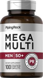 Mega Multiple for Men 50 Plus, 100 Coated Caplets