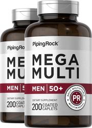 Mega Multiple for Men 50 Plus 2 Bottles x 200 Coated Caplets