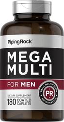 Mega Multiple Vitamin for Men 180 Coated Caplets