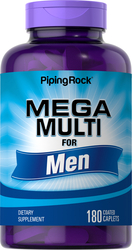 Mega Multiple Vitamin for Men 180 Coated Caplets