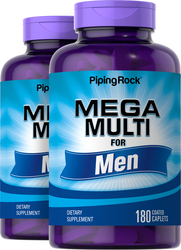 Mega Multiple Vitamin for Men 2 Bottles x 180 Coated Caplets