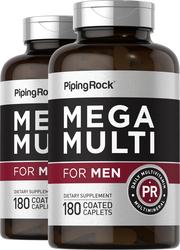 Mega Multiple Vitamin for Men 2 Bottles x 180 Coated Caplets