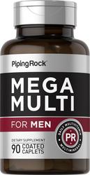 Mega meervoudig voor mannen 90 Gecoate capletten