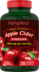 Apple Cider Vinegar, 1800 mg (per serving), 200 Capsules