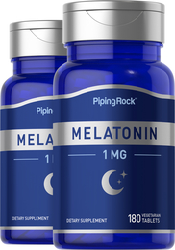 Melatonin 1 mg 2 Bottles x 180 Tablets