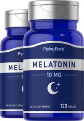 Melatonin 10mg 2 Bottles x 120 Tablets